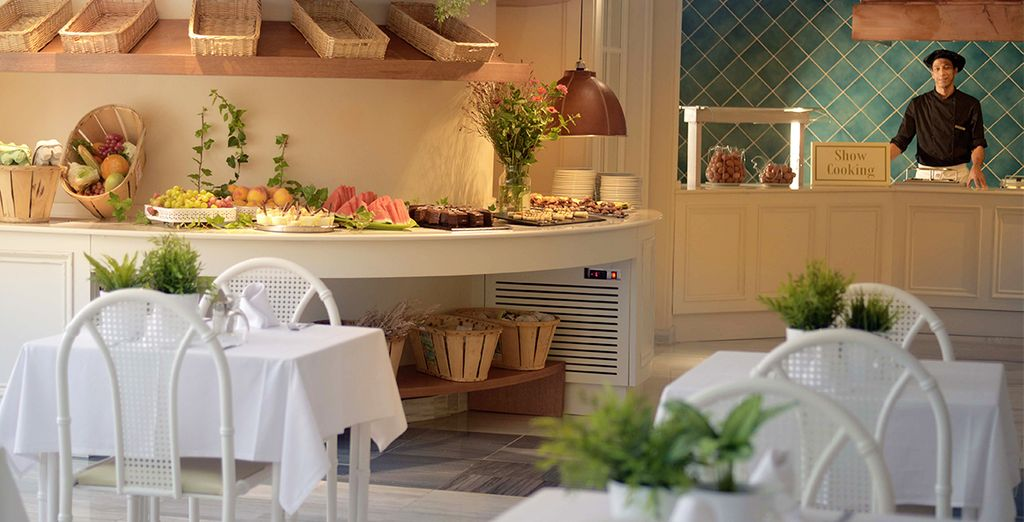 Enjoy Full Board dining at the health-conscious restaurant