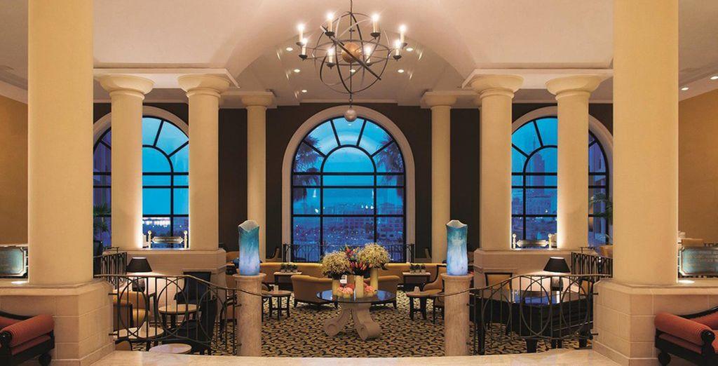 The hotel's elegant interiors are sure to impress