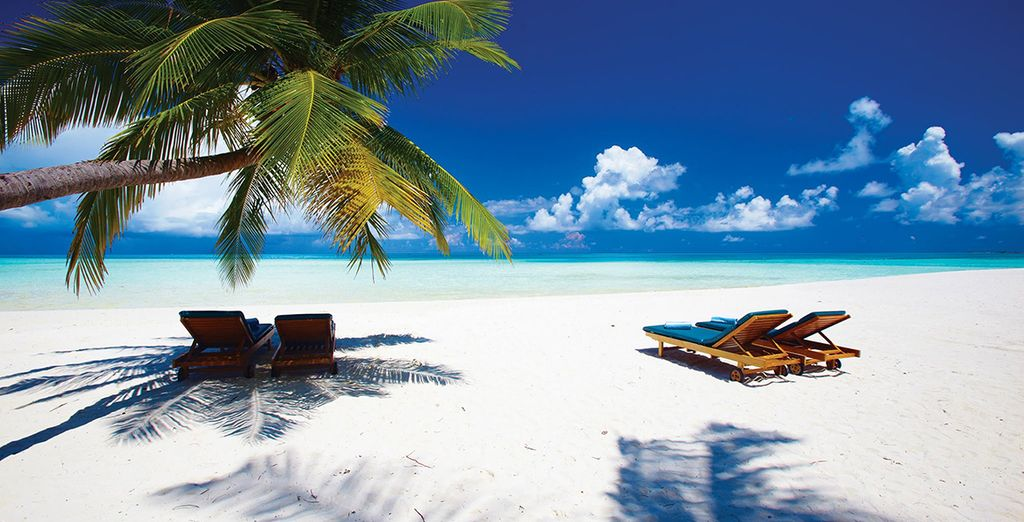 Spend your time relaxing on the white, sandy beaches