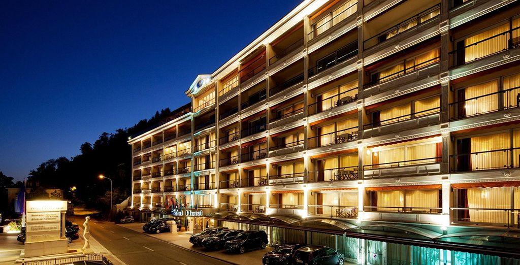 Stay in a beautiful modern hotel