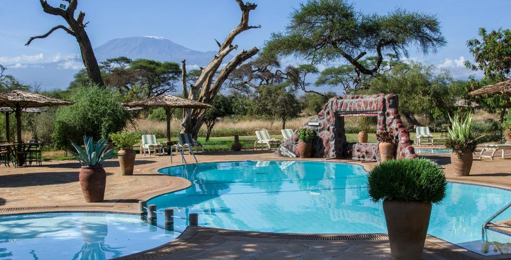And with amazing surroundings (pictured: Amboseli Sentrim Camp)