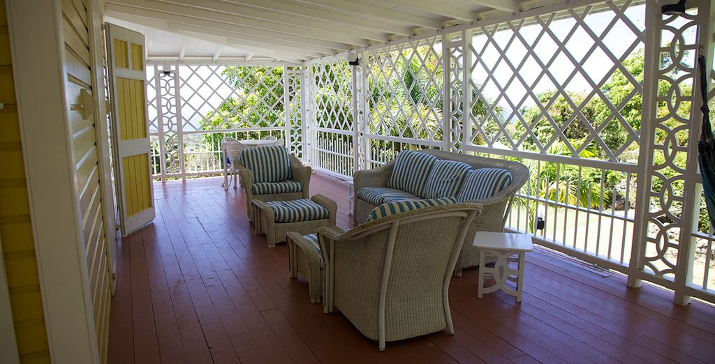And an elegant terrace, perfect for seeking some respite from the sun