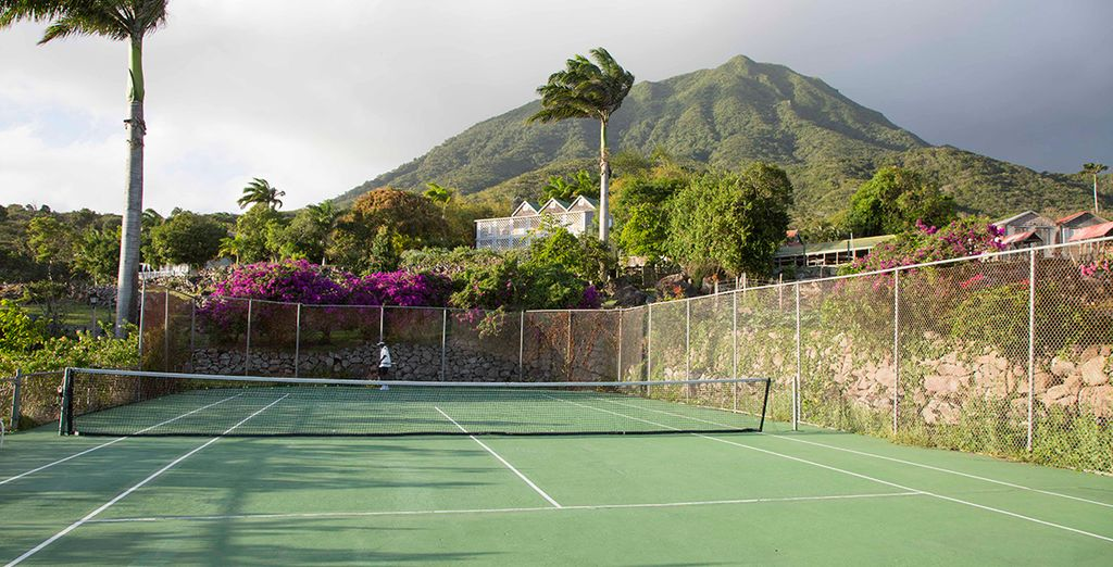 Work up a sweat with a game of tennis
