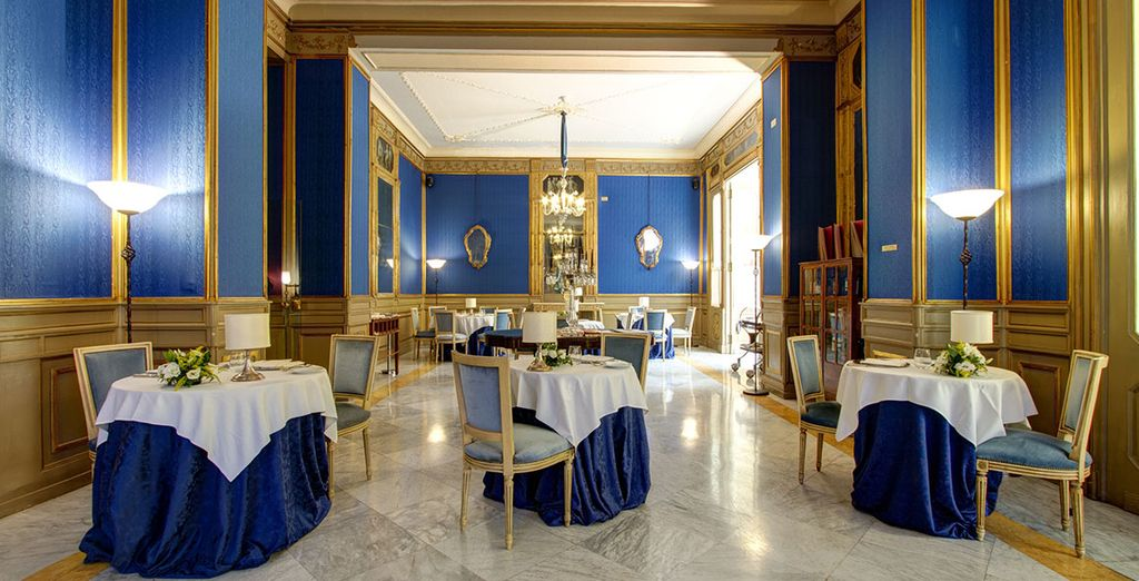 Then return to dine in refined surroundings