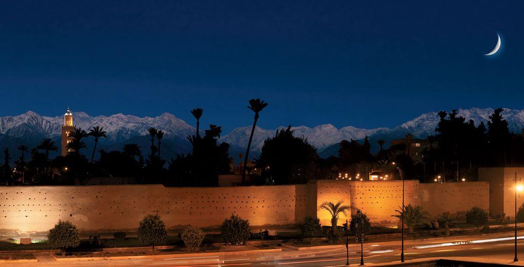 While enjoying the panorama of the Atlas Mountains