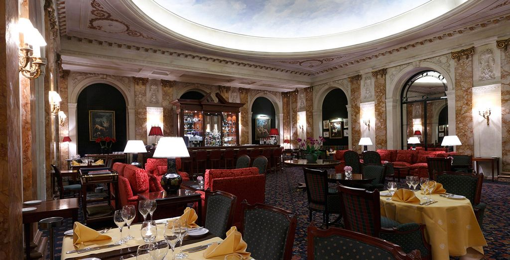 Eat your breakfast in the grand dining room