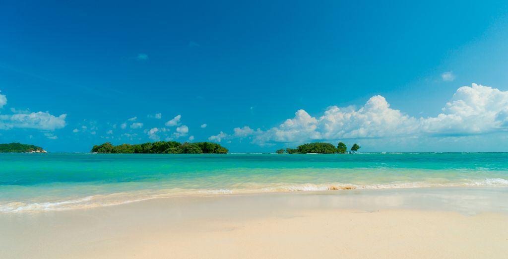 White sand beaches and turquoise waters await you