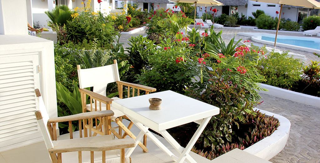Soak up the sunshine on your patio...
