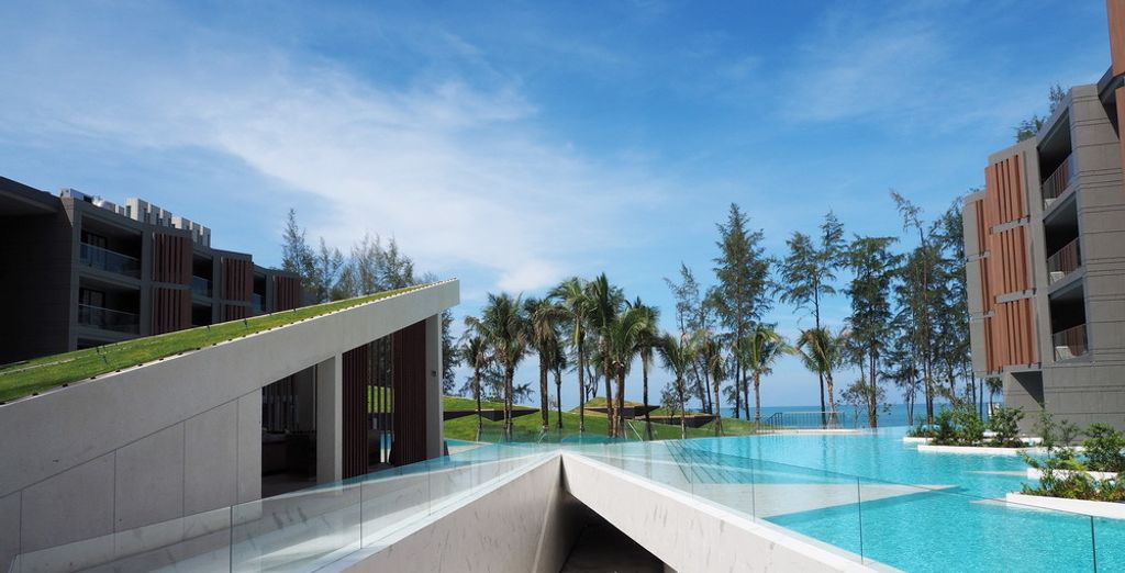Including a sparkling outdoor swimming pool
