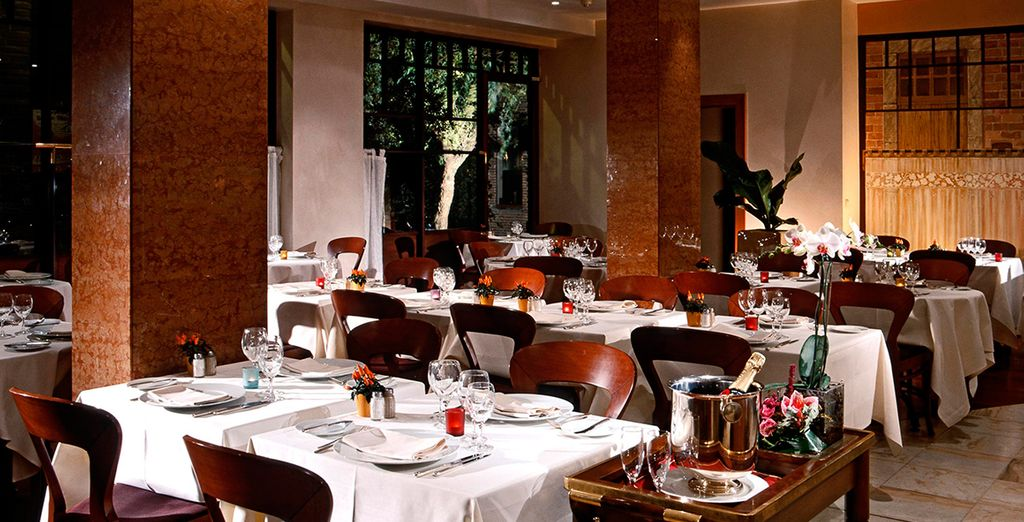 Return in the evening for a meal at the hotel's Italian restaurant
