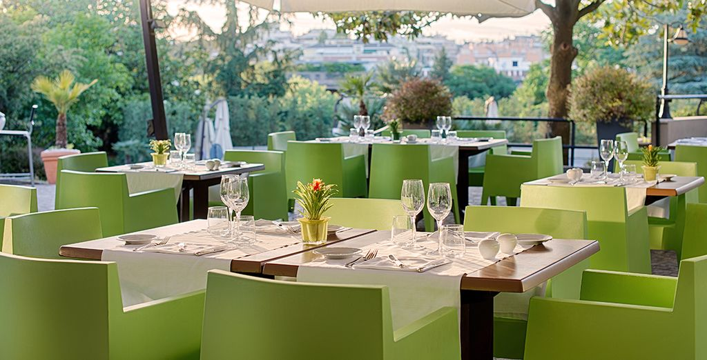 You are able to dine al fresco in style in warmer months