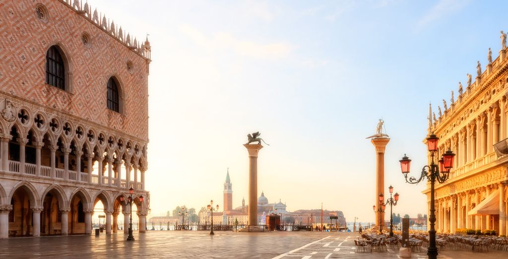 Your hotel is just 1.9km from St Mark's Square