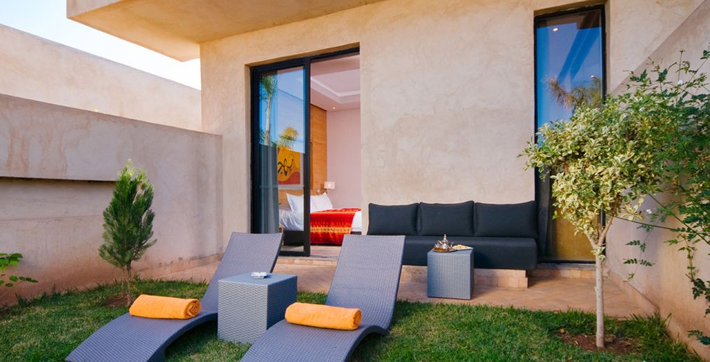 Complete with a private garden or terrace so you can sunbathe in peace