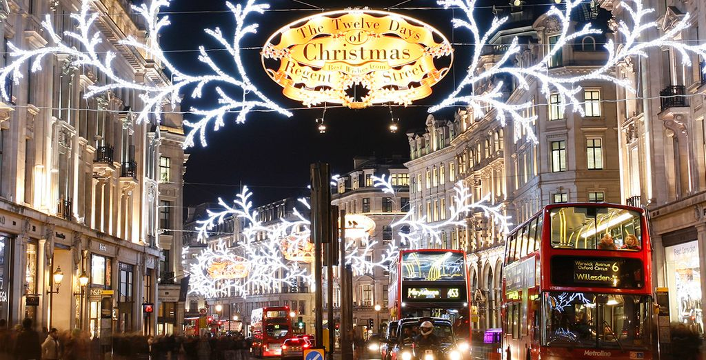 Indulge in some Christmas shopping on Oxford and Regent Street