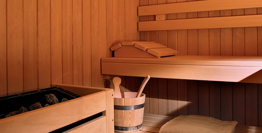 Or a relaxing sauna session