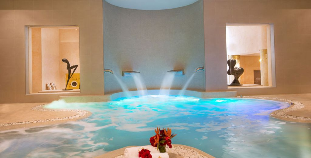 Unwind in the extensive spa