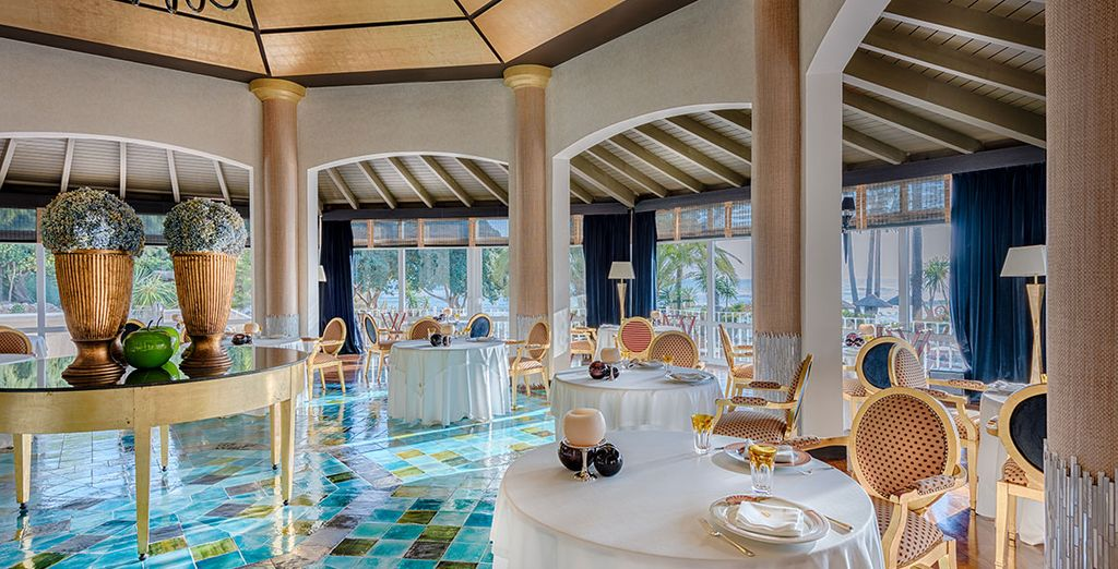 Dine well in sun-filled surroundings
