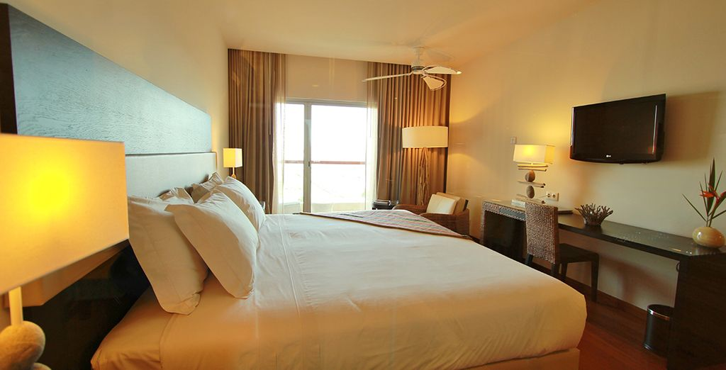 Relax in a comfortable Deluxe room