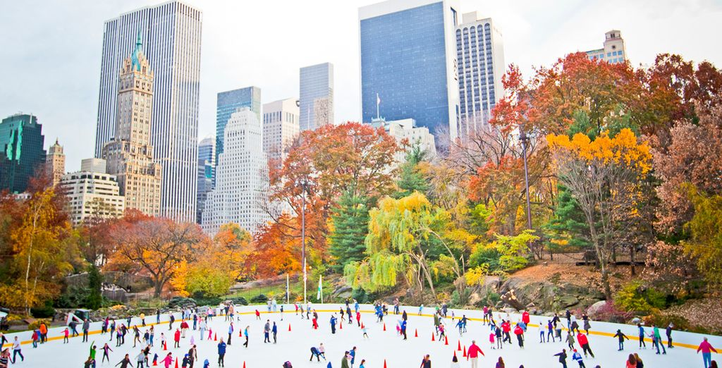 Or wrap up warm and go skating in Central Park!