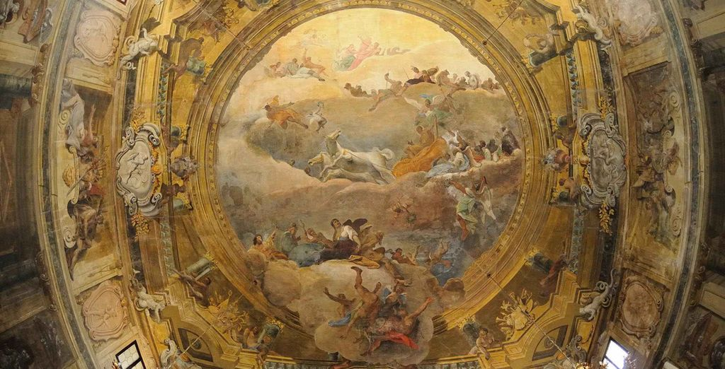 ...and you are surrounded by majestic ceiling paintings