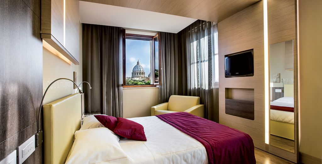 Stay in an elegant Superior Room with Balcony