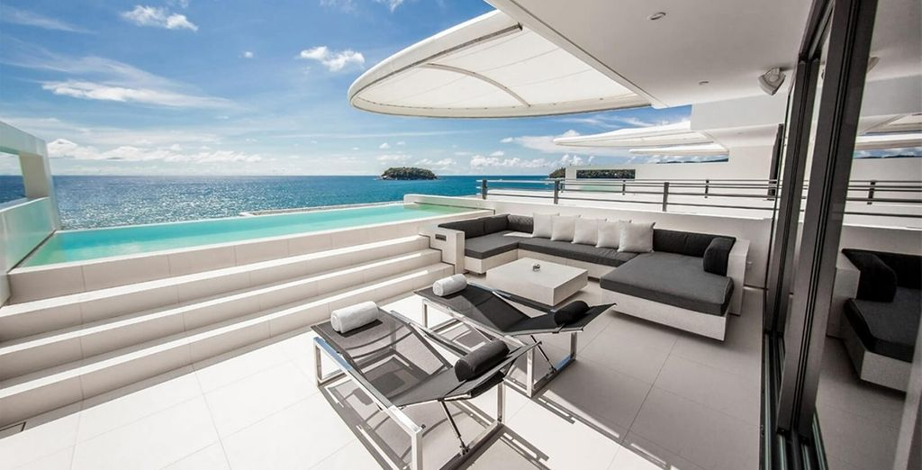 Enjoy jaw dropping views from your sky villa...