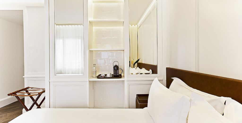 Stay in a bright and fresh Deluxe Room