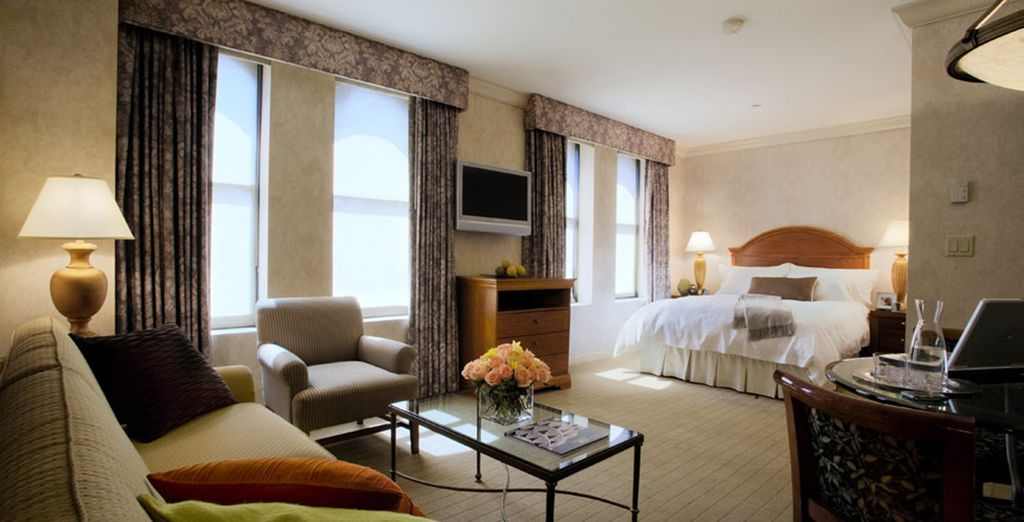 Stay in an Executive Junior Suite at the trendy Manhattan Club