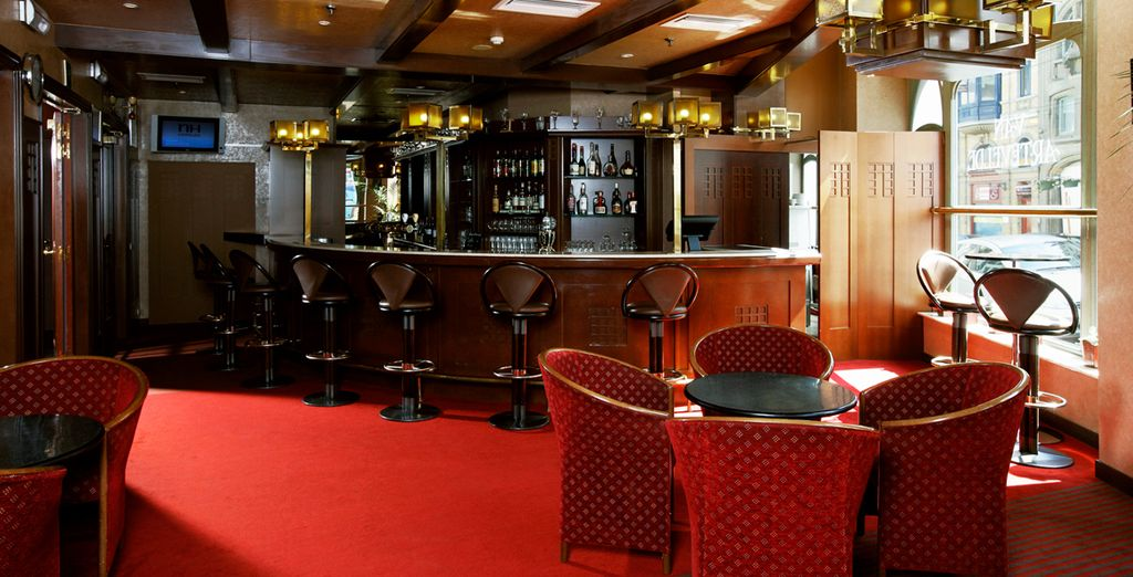Whilst the bar provides a calming atmosphere in which to relax