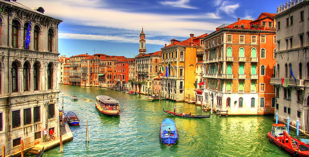 Just moments from the Grand Canal...