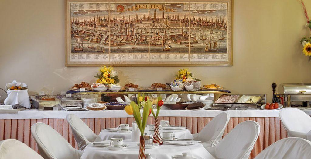 Enjoy a generous breakfast...