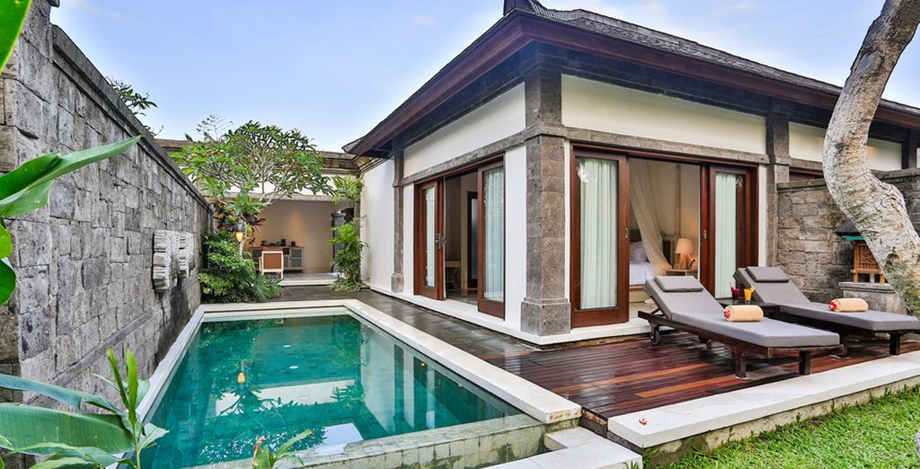 Your trip begins in a secluded pool villa