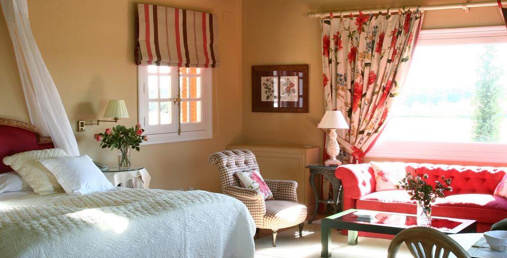 Sleep in an elegantly decorated Room