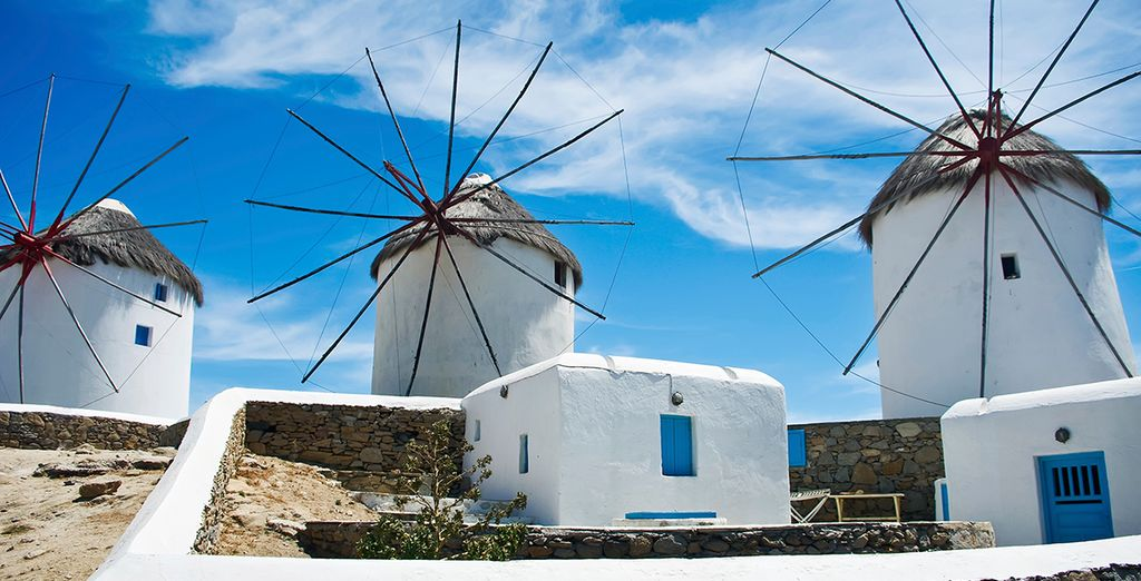 And explore the charming white-washed villages of Mykonos
