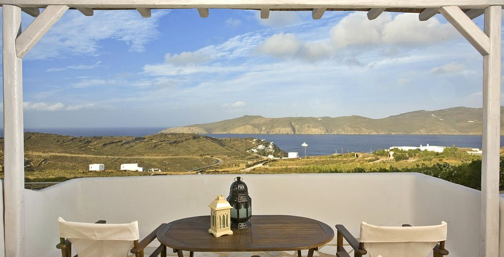 And boasts stunning views from the terrace