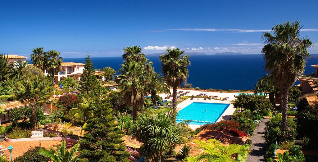 Set in 30,000 square metres of beautiful landscaped gardens, overlooking the sea
