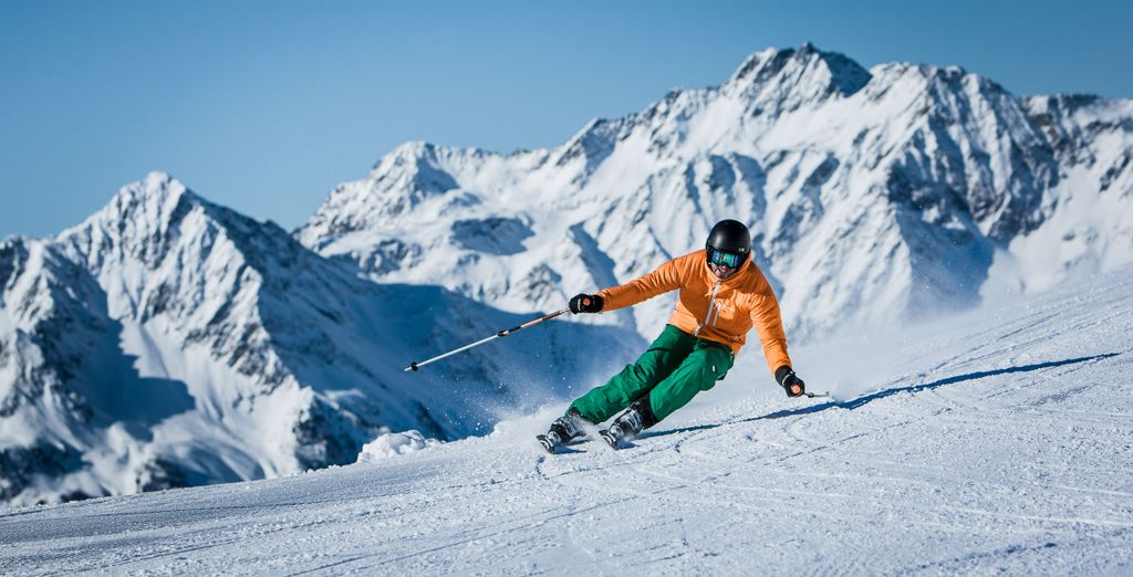 The skiing in this region is fantastic