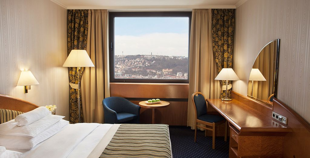 Make your way to a spacious Deluxe Room