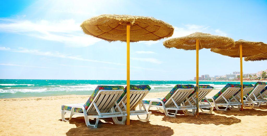 To sandy beaches