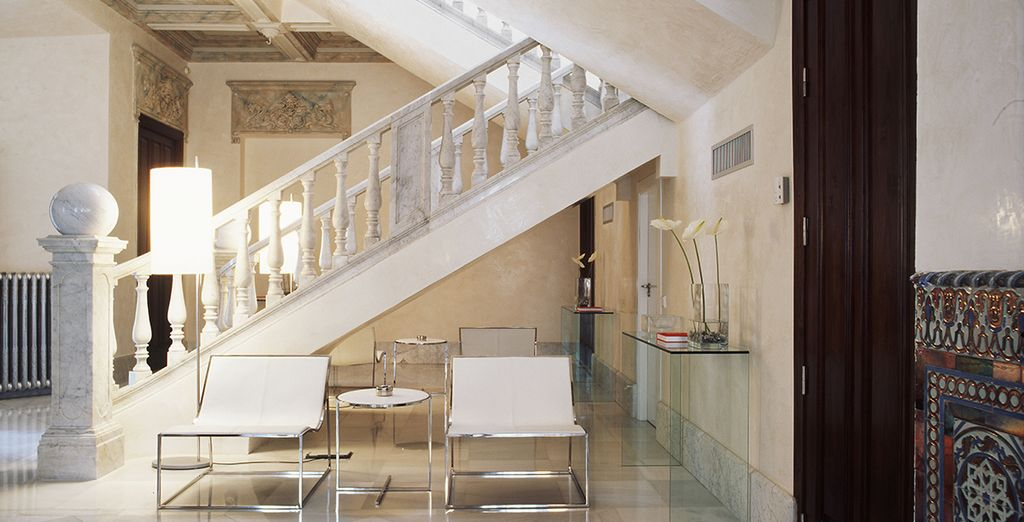 This converted palace features light and airy spaces