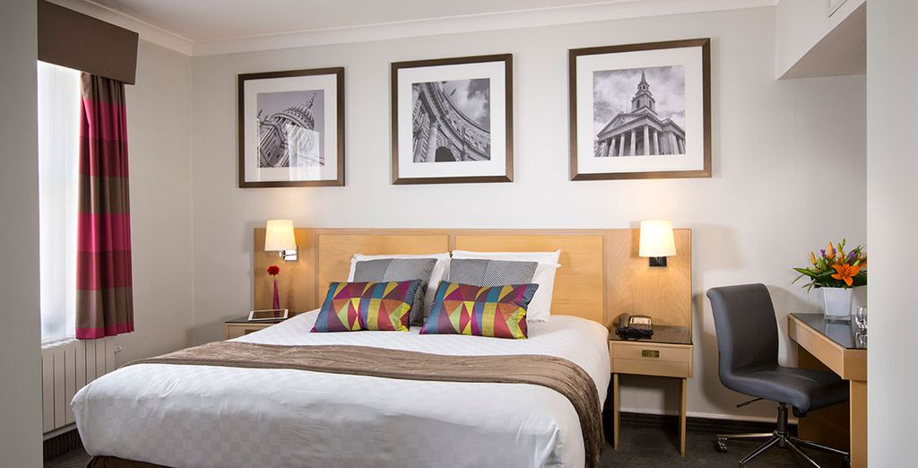 You'll sleep in a comfortable standard room
