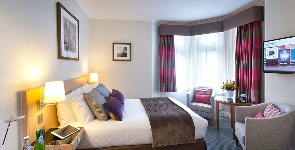 Or a plush double bed
