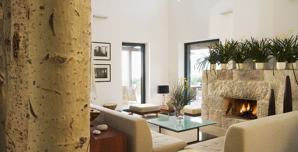 Take time to relax in the lounge of the villa