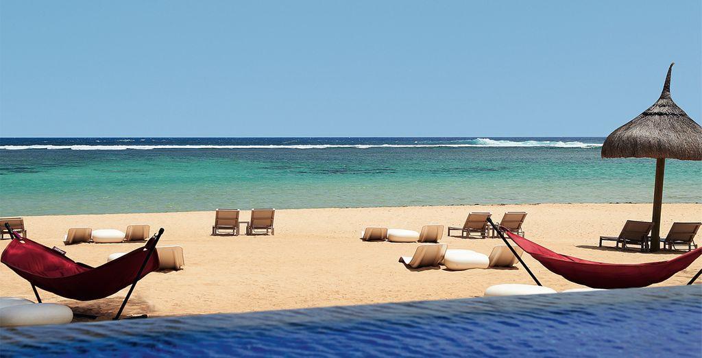 Including a private stretch of sandy white beach
