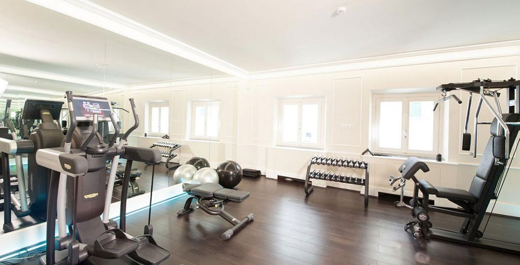 Work up a sweat at the on-site gym
