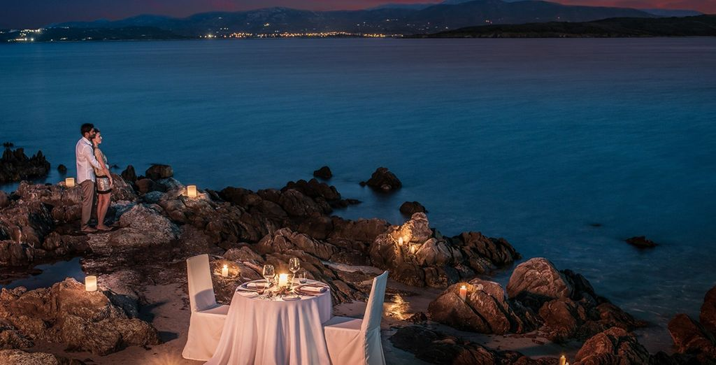 And end the day with a romantic candlelit meal