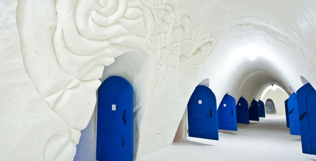 Next, you can make your way to the Snow Hotel