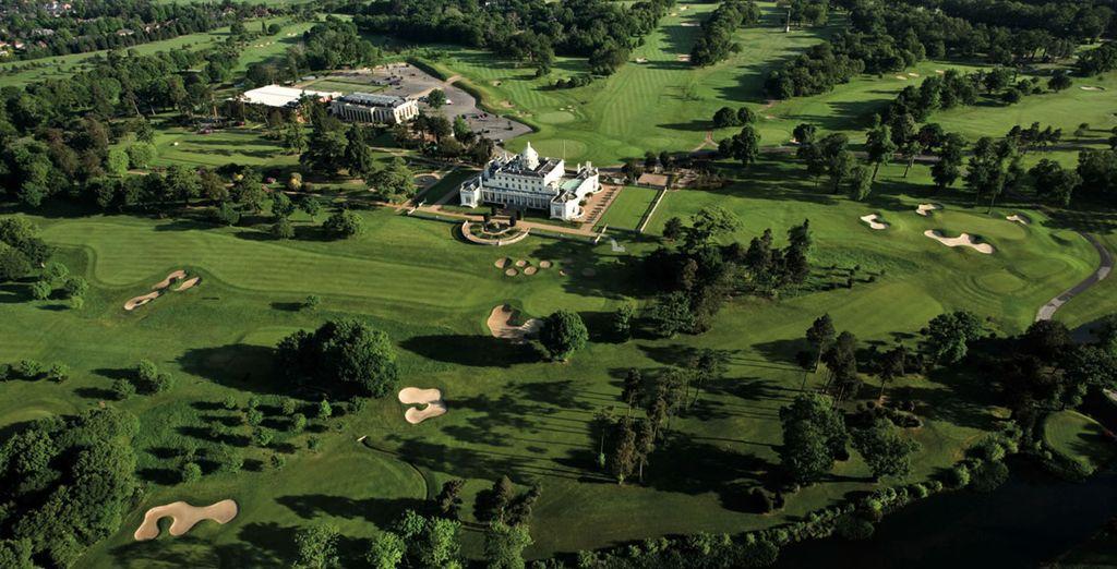 Admire its impressive 300 acre grounds