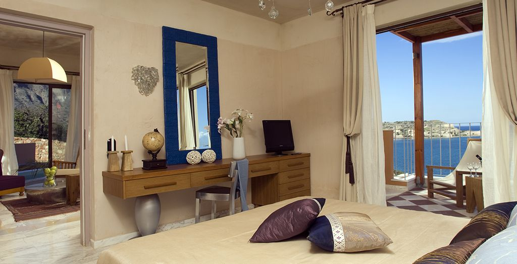Choose from a Premium One Bedroom Suite with Garden or Sea View