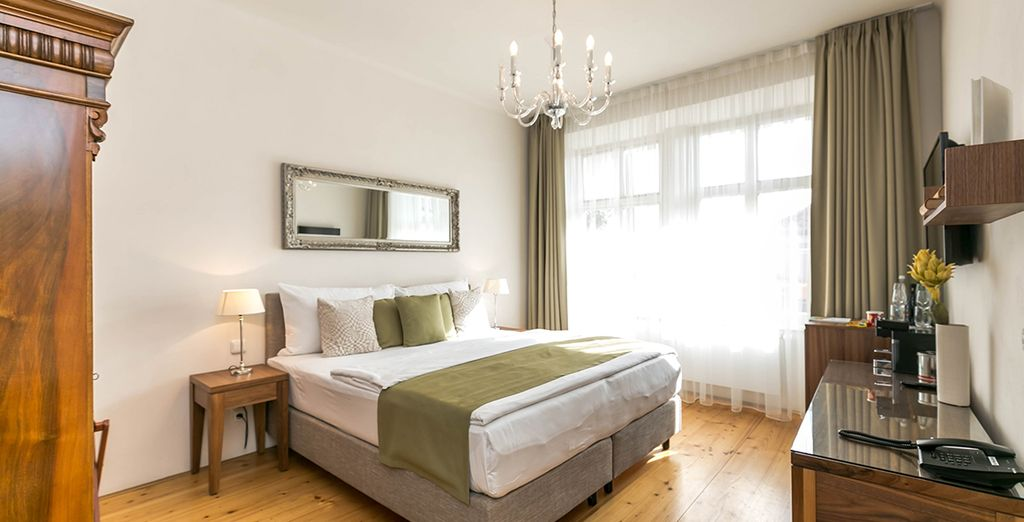 Recently upgraded, these rooms boast luxurious interiors